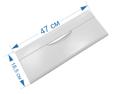 Панель ящика для холодильников Минск, Атлант (передняя, узкая) 301540101200, 301540101700, 301.54-0.1.017 - фото 7398