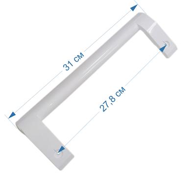 Ручка двери для холодильника LG, прямая, белая AED73673701, AED73153101 - фото 7523