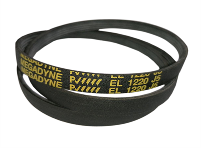 Ремень привода барабана 1220J5 (1220 J5, EL 1220 J5 ) для стиральных машин Ardo, LG, чёрный BLJ423UN, 72122000, 16CN26, 416002700, WN285 Megadyne - фото 7927