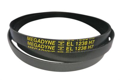 Ремень привода барабана 1238H7 (1238 H7, EL 1238) для стиральных машин Ardo, Whirlpool BLH323UN, 481235818189, C00380577, 416004000, 651009072 Megadyne - фото 7930
