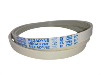 Ремень привода барабана 1287H7 (1287 H7) для стиральных машин Whirlpool, Gorenje, Asko, Mora, Electrolux черн/бел. (1196-1205 мм) Megadyne / Hutchinson BLH340UN - фото 7934