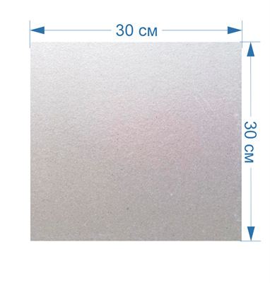 Слюда для всех видов микроволновых (СВЧ) печей универсальная 30x30см - фото 8104