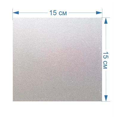 Слюда для всех видов микроволновых (СВЧ) печей универсальная 15x15см - фото 8106
