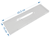 Панель ящика (узкая) для холодильников Ariston, Indesit, Stinol, Whirlpool 283275, 857284, C00283275, C00857284, W14805553500, 148032953