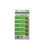 Набор жиклеров для кухонных плит (5шт) Ariston, Zanussi, Electrolux 6MB-GPL WO431 для перевода на баллонный газ