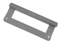 Ручка двери холодильника Ariston, Stinol, Indesit для морозильника, металлическая, C00859996, 859996, 205ER(LZ) L=200мм (серая)