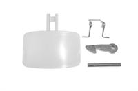 Ручка люка (В сборе, белая) для стиральных машин Indesit, Ariston, Whirlpool C00035766, 035766, WL175, AD3826, 482000026311