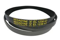 Ремень привода барабана 1238H7 (1238 H7, EL 1238) для стиральных машин Ardo, Whirlpool BLH323UN, 481235818189, C00380577, 416004000, 651009072 Megadyne
