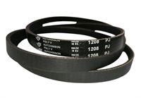 Ремень привода барабана 1208J5 (1208 J5) для стиральной машины Indesit, Aristin, Whirlpool, Gorenje, Haier 229553, 193233, C00193233, L193233, C00143610