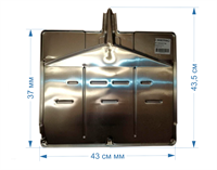 Нижний поддон нагревателя испарителя (каплепадения) для холодильников Stinol, Indesit, Ariston 855062, C00855062