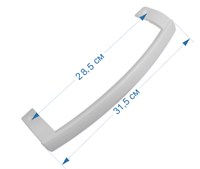 Ручка (скоба) для дверцы холодильников LG AED34420702, AED34420706 белая Super White